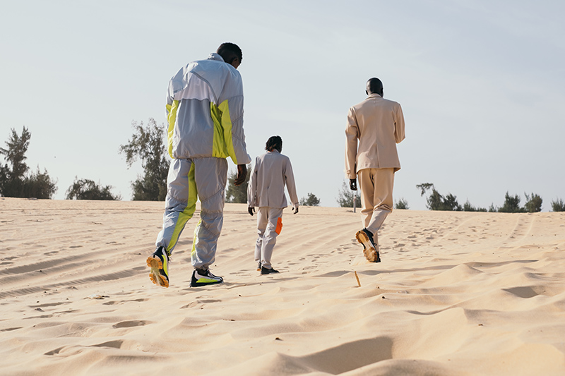 boys on sand with Filling Pieces