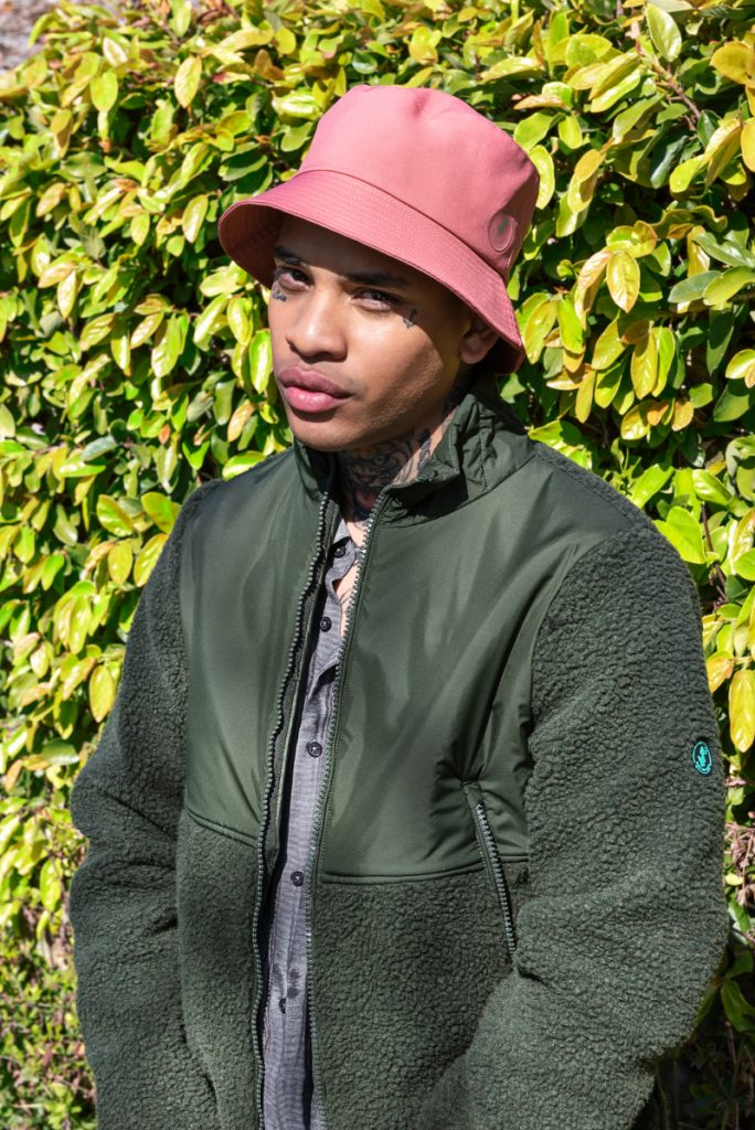 model with outerwear from SAVE THE DUCK FW21/22